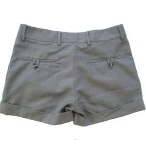 ALICE McCALL 8 Gray Cuffed Pleated Shorts
